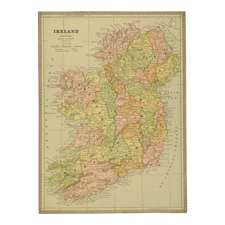 Vintage Map of Ireland, 1890