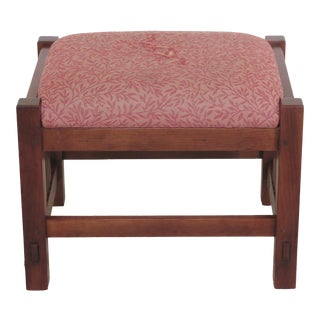 Stickley Mission Style Cherry Ottoman or Footstool For Sale