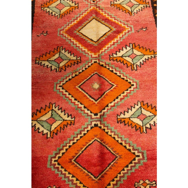 1960s Vintage Moroccan Tribal Rug Runner Matisse Style For Sale - Image 5 of 7