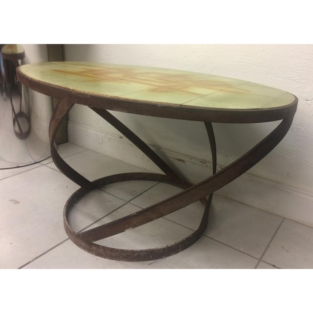 1950s 1950s Vintage Abbaye Du Bec Abstract Tile Table From For Sale - Image 5 of 9