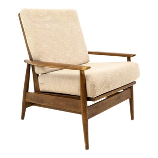 Vintage Mid Century Viko Baumritter Danish Walnut Chair For Sale