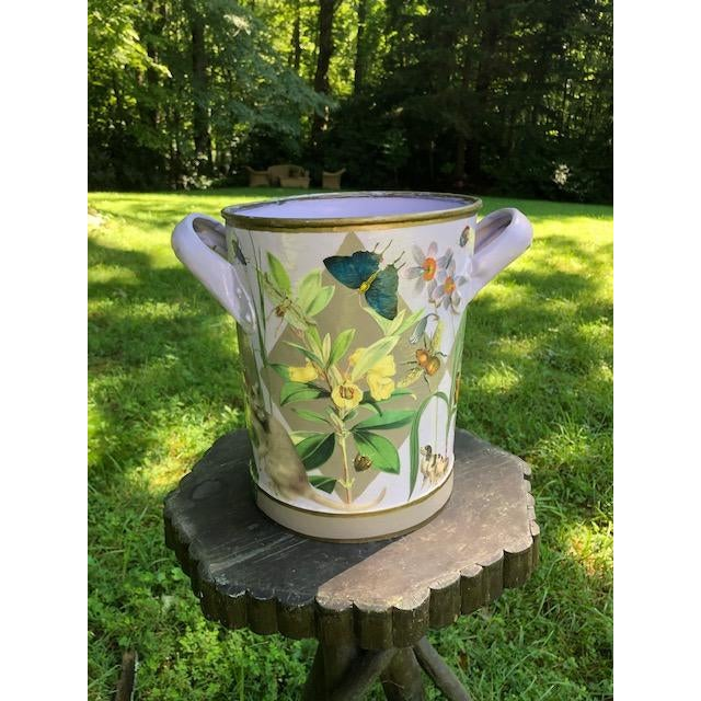 Antique french bucket from the late 1900 Century, decoupaged by Carson & Co. in the late 1990's. Today Susan Carson is...