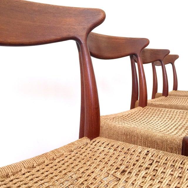 Arne Hovmand-Olsen Arne Hovmand Olsen Teak Dining Chairs -Set of 4 For Sale - Image 4 of 10