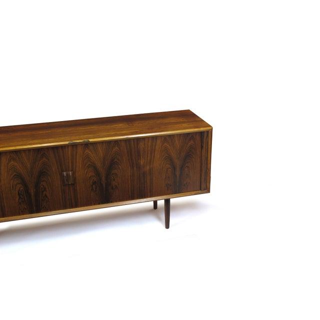 Rosewood Arne Vodder for P. Olsen Sibast Mobler Rosewood Tambour Credenza Sideboard For Sale - Image 7 of 10