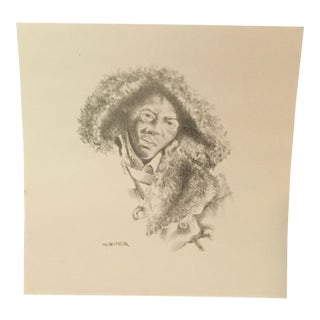 Signed Charles Criner Lithograph Print For Sale