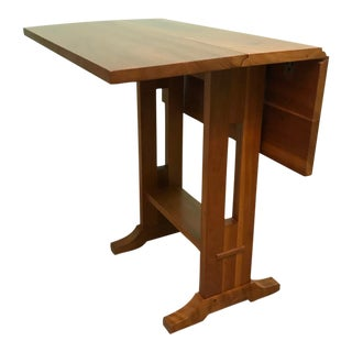 Arts and Crafts Stickley Solid Cherry Side Table With Drop Leaves For Sale