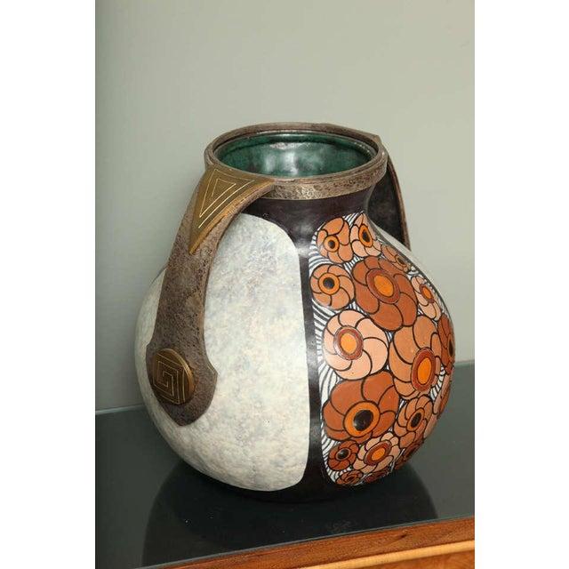 Art Deco Pottery Amphora Vase by Louis Dage For Sale - Image 10 of 10