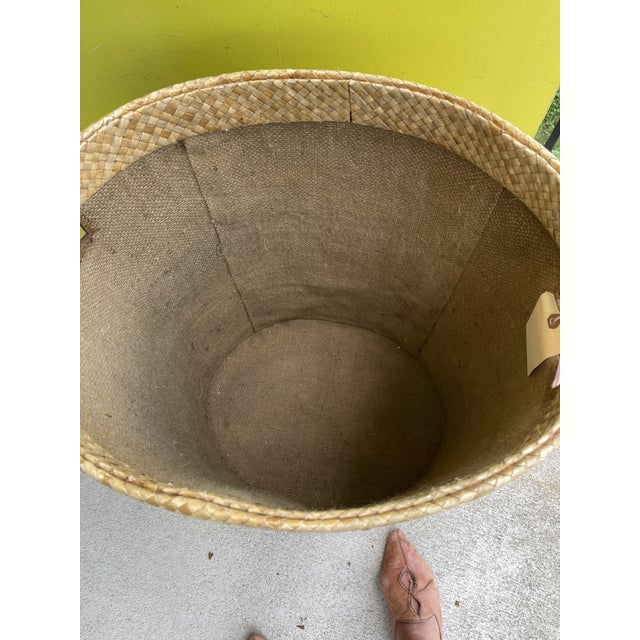 Woven Wicker Hamper For Sale - Image 4 of 9