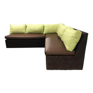 Two Piece Sectional From Walter's Wicker Works For Sale