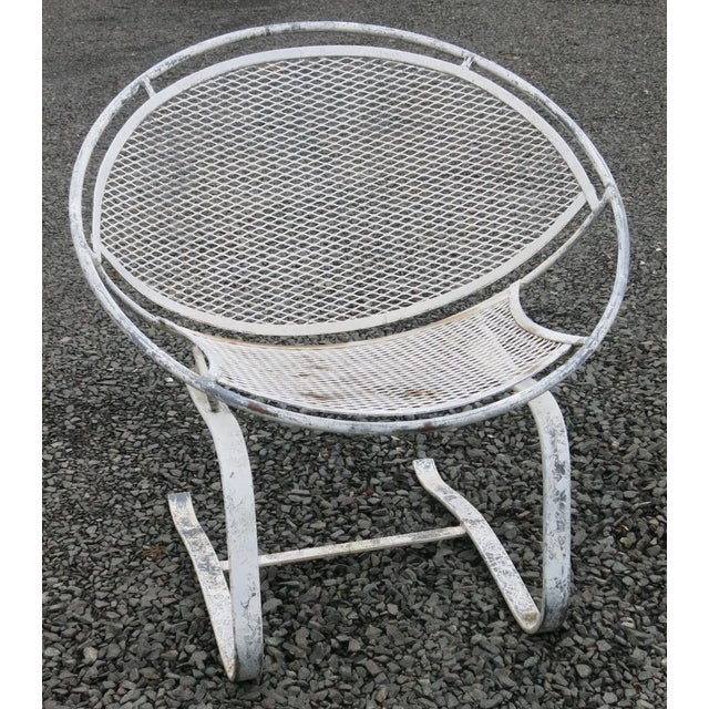 Metal 1960s Vintage Salterini Radar Spring Chair Hoop Chair For Sale - Image 7 of 7