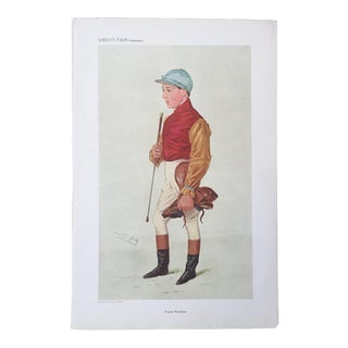 1909 Frank Wootton Original Vanity Fair Horse Racing / Jockey Print For Sale
