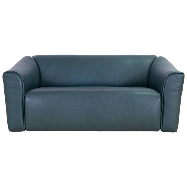 De Sede DS 47 Sofa in Petrol Green Leather For Sale - Image 12 of 12