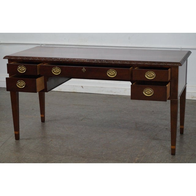 Baker Historic Charleston Collection Mahogany Chippendale Style Desk - Image 6 of 10