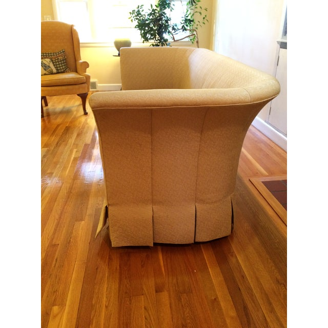 Beacon Hill Curved Back Yellow Tuxedo Sofa - Image 5 of 6