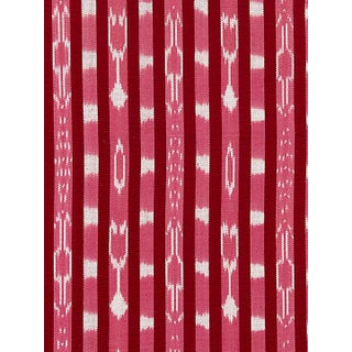 Scalamandre Jakarta Ikat Stripe, Raspberry Fabric Preview