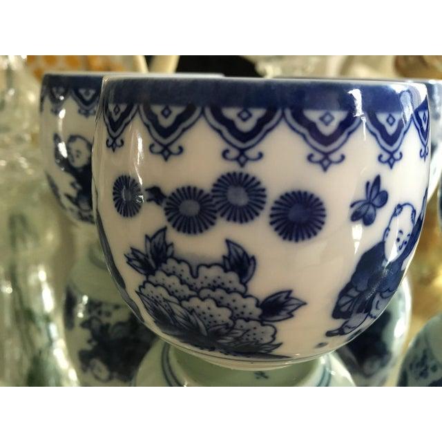 Blue & White Porcelain Tea Cups - Set of 4 - Image 6 of 8