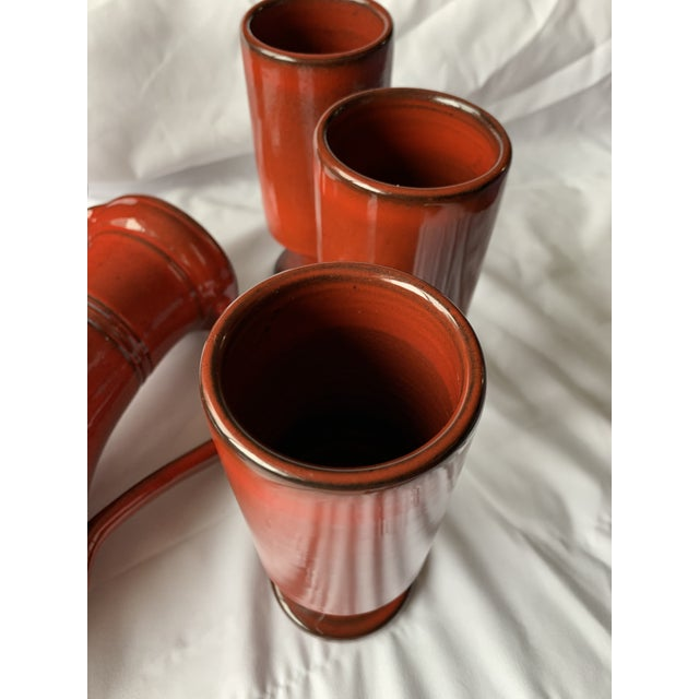 1970s French Orange Flambé Glaze Pottery by Pol Chambost For Sale - Image 11 of 13