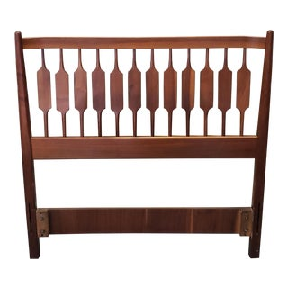 Mid Century Kipp Stewart for Drexel Declarations Walnut Twin Size Headboard C1959 For Sale