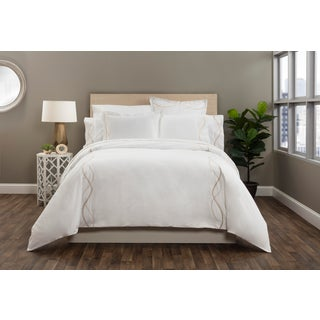 Capri Embroidered Duvet Cover Queen - Pumice Preview