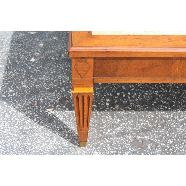 Mid-Century Modern Stone Top Coffee Table