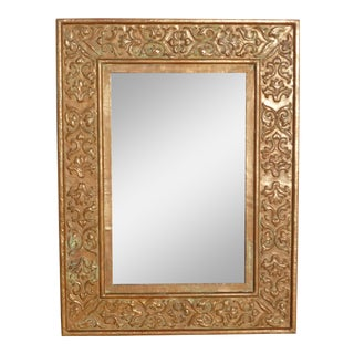 Vintage Copper Repousee Mirror For Sale