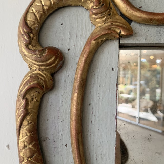 18th Century French Mirror With Carved and Gilded Overlay For Sale - Image 4 of 13
