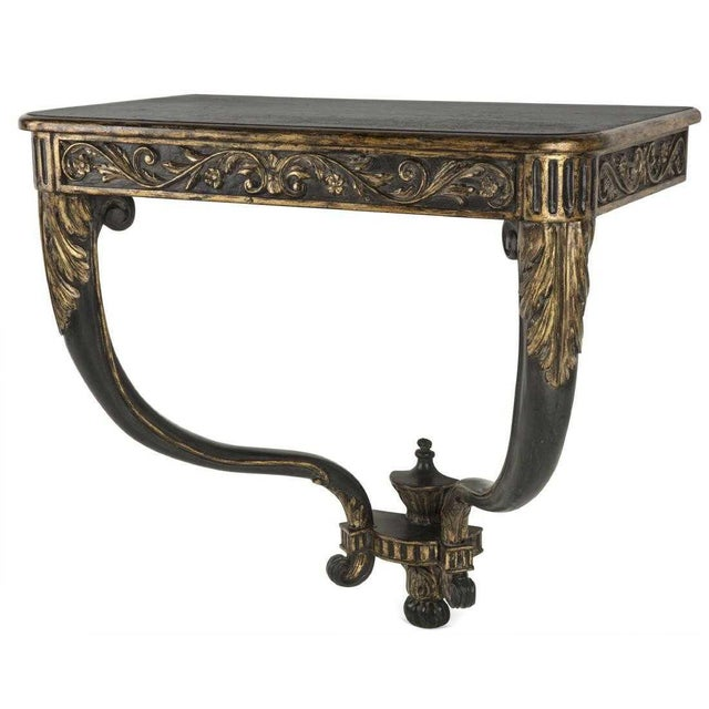 French Provincial Continental Neoclassical Style Designer Console Table For Sale - Image 3 of 3