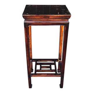 19th Century Antique Chinese Rosewood Pedestal Table For Sale