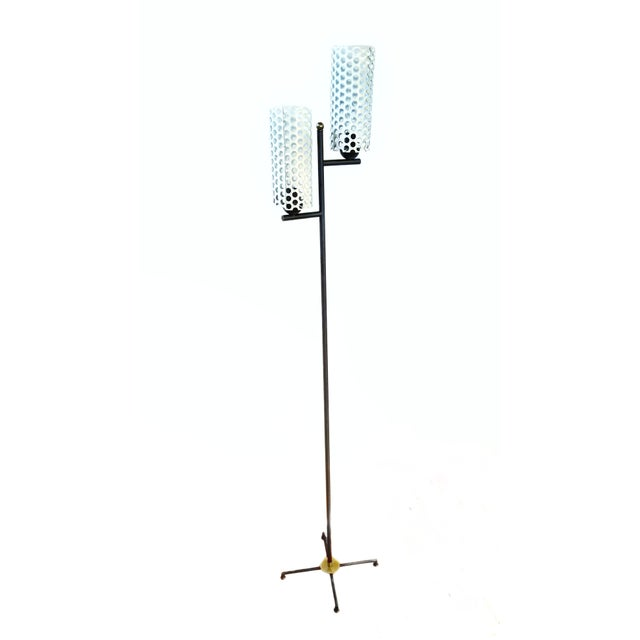 Black French Mid-Century Modern Floor Lamp For Sale - Image 8 of 8