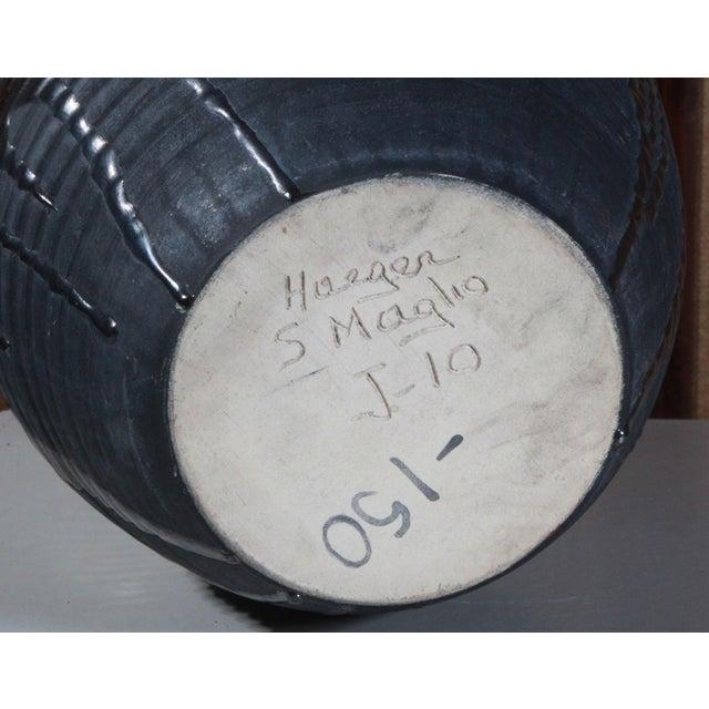 Large Sebastiano Maglio Haeger Black Pottery Vase - Image 7 of 7