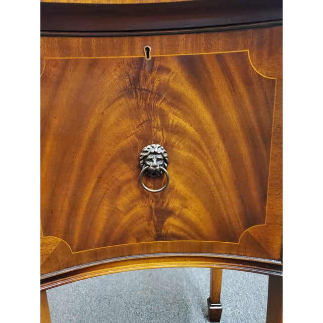 Antique Georgian Style Flamed Mahogany Sideboard For Sale - Image 9 of 13