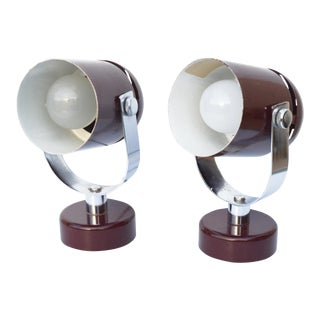 1970s Futuristic Lamps Designed by S. Indra, Czechoslovakia - a Pair For Sale