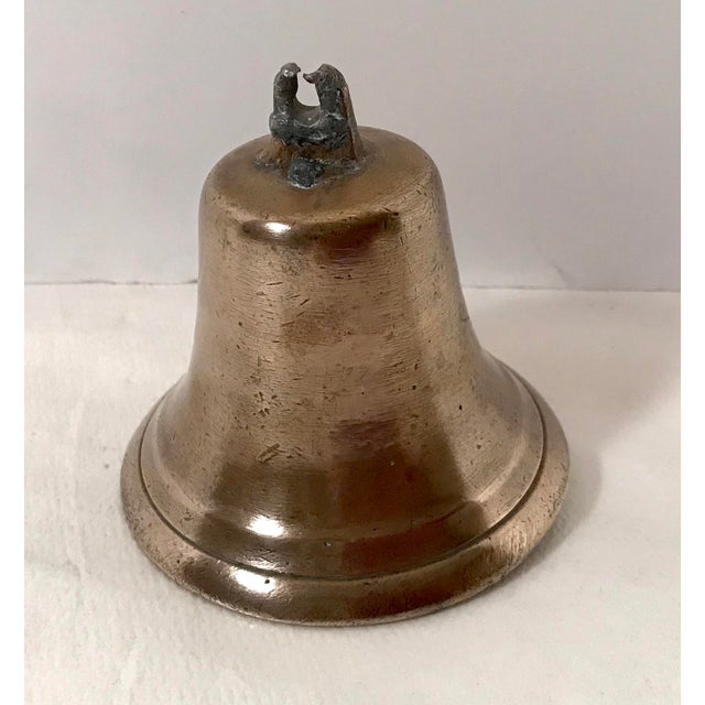 Metal Mid 20th Century Vintage Brass Bell For Sale - Image 7 of 7
