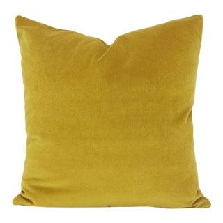 Saffron Yellow Velvet Pillow Cover For Sale