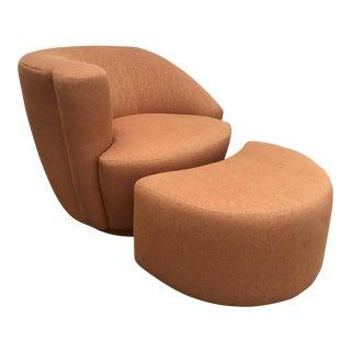 Vladimir Kagan Nautilus Chair & Ottoman