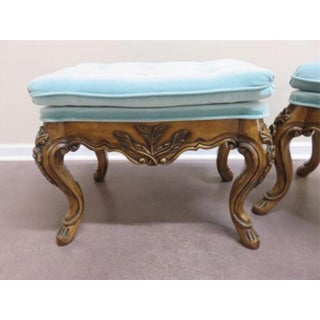 French Louis XV Baroque Bench Stools - a Pair Last Markdown Preview