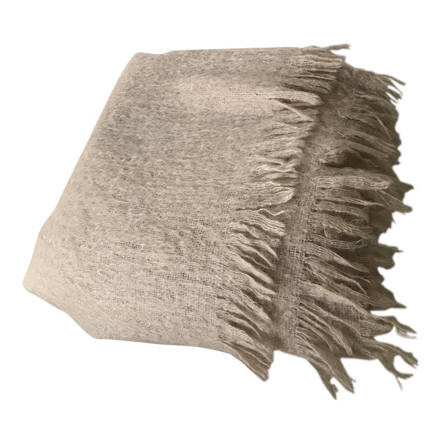 Australian Mohair Fringed Throw - Image 1 of 9
