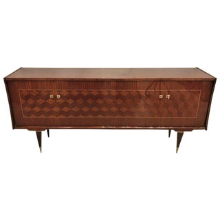 Art Deco Macassar and Rosewood Sideboard Buffett Cabinet For Sale
