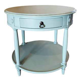 Drexel Heritage Painted Two Tier Side Table For Sale
