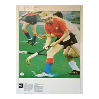 1976 Montreal Olympic Poster, Double-Sided, Field Hockey/Cycling - Cojo For Sale