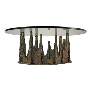 Bronze Stalagmite Coffee Table by Paul Evans For Sale