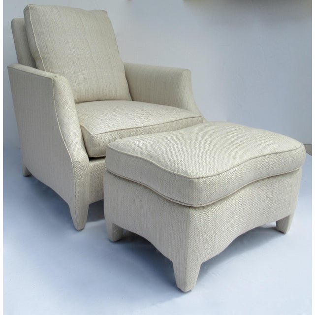 Donghia Ogee Club Chair and Ottoman For Sale - Image 13 of 13