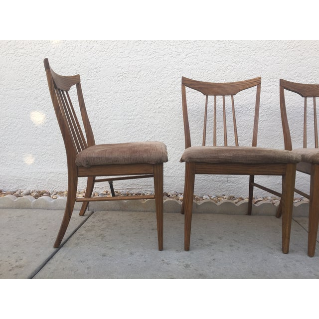 Mid Century Oak Dining Chairs - Set of 4 - Image 3 of 11