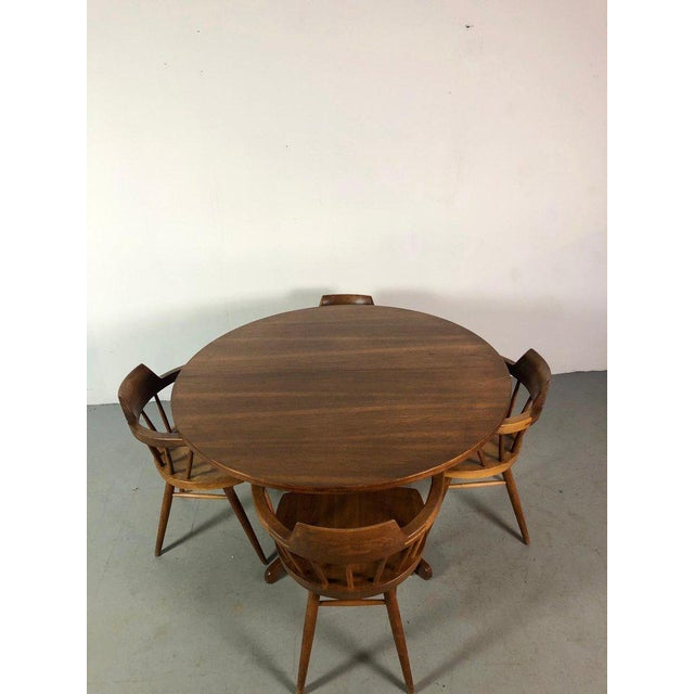 George Nakashima Early One of a Kind George Nakashima Dining Set With Six Captain Chairs Usa 1966 For Sale - Image 4 of 12
