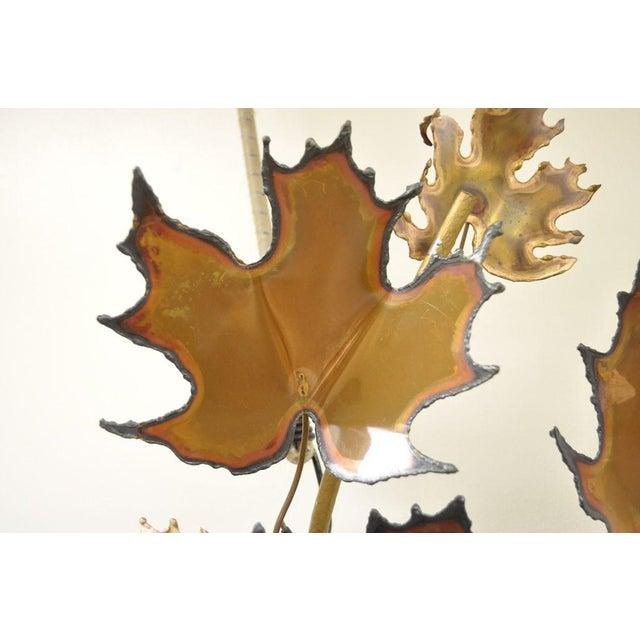 Gold Vintage Mid Century Modern Curtis Jere Maple Leaf Wall Sculpture Brutalist A For Sale - Image 8 of 11