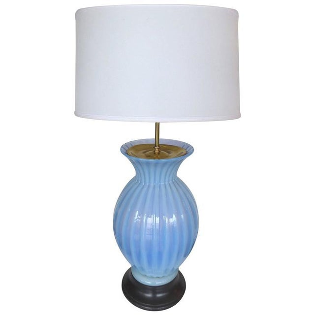 Superb mid century modern blue murano glass table lamp by marbro mid century modern blue murano glass table lamp by marbro image 9 of 9 aloadofball Gallery