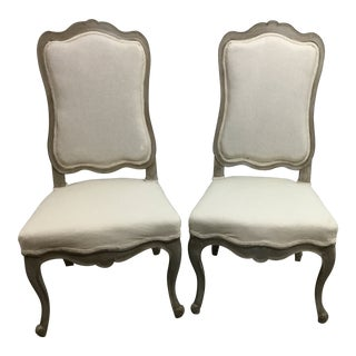 Shabby Chic Queen Anne Side Chairs - a Pair