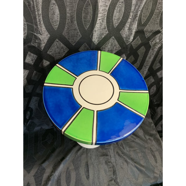 Raymor 1960s Raymor Ceramic Pottery Tulip Shape Side Table, Made in Italy For Sale - Image 4 of 10