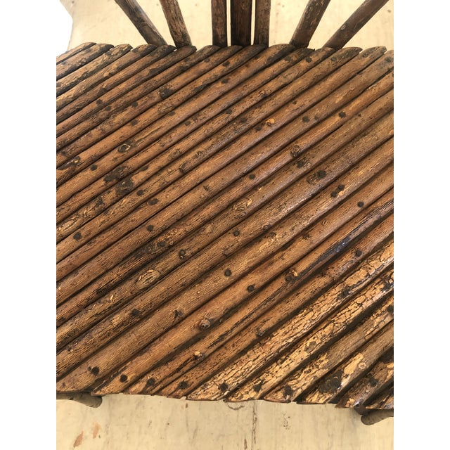 Late 19th Century Antique Rustic Adirondack Twig Chair For Sale - Image 5 of 13