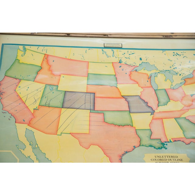 Vintage 1930s Crams Pull Down Map For Sale In New York - Image 6 of 9